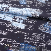 Кулир  надписи серые на темном с голубым