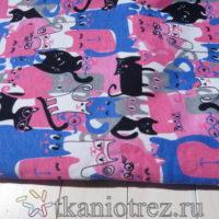 Футер  цветные коты  сине-розовые